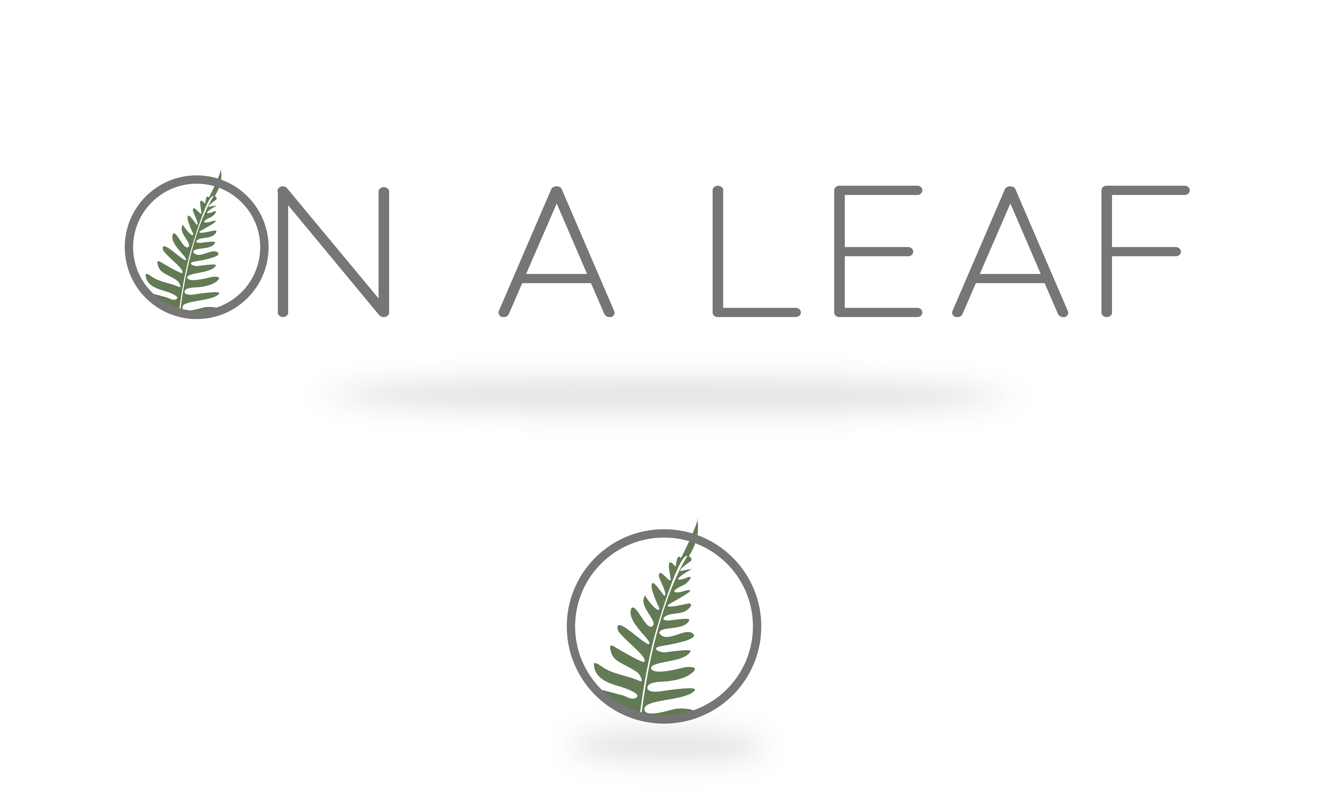 On A Leaf logos - © Claire Gapais - Entrepreneur & digital green marketing consultant